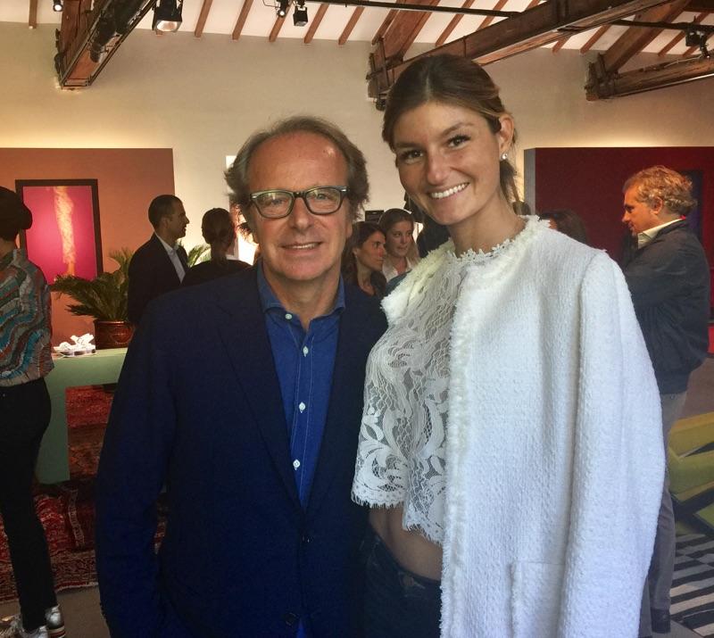 Maria Vittoria Cusumano con Andrea della Valle a un evento Hogan