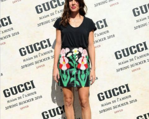 Charlotte Casiraghi all'evento di Gucci