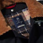 Dettaglio di una giacca Fay