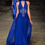 Sfilata Renato Balestra abito blu