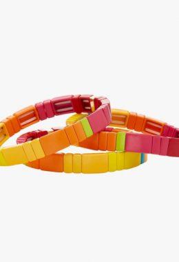 Roxanne Assoulin Starbust Block Party Enamel Bracelets